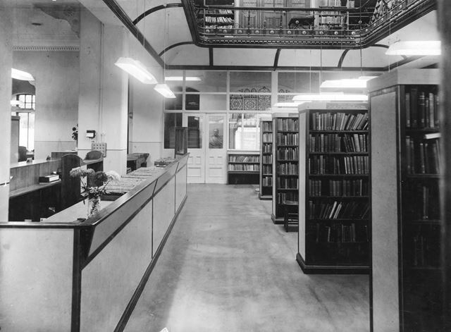 Issues Counter, Derby Central Library, Wardwick, Derby, c 1954