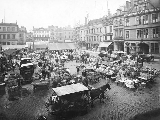 Wholesale Market, Market Place from Corpotation Street, Derby, 1925