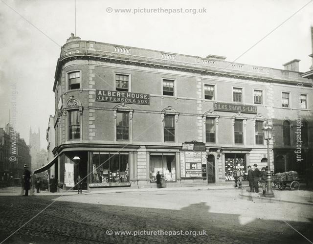 Albert House - Jefferson's Haberdashery Shop, Albert Street, Derby, 1882