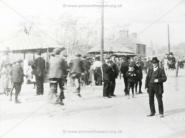 Good Friday Fair, Moor Lane, Little Eaton, 1909