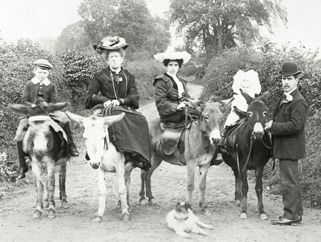 Portrait of a family taken at Dovedale, c1907