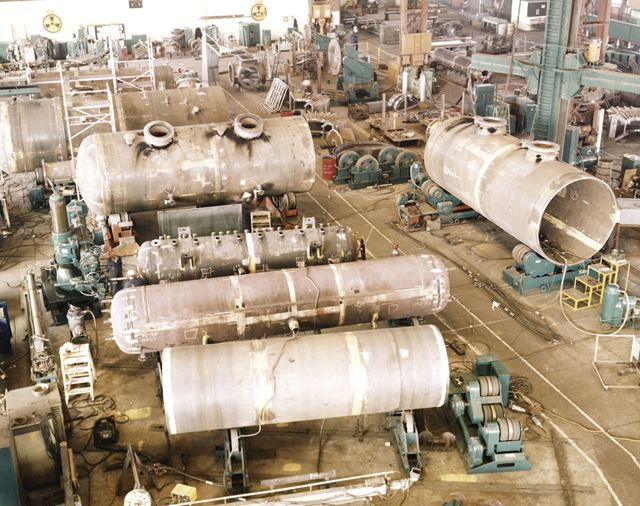 International Combustion Limited - General View of Heavy Fab. Shop/ Lummus Drums
